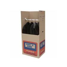 Portable cardboard wardrobe